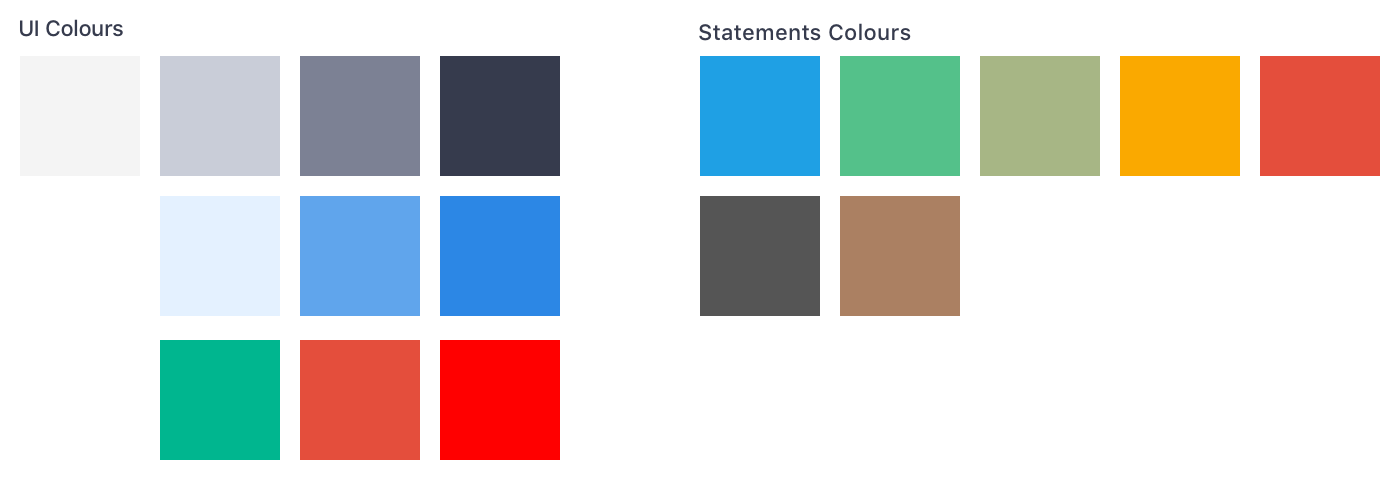 Colours used in the Hiveage iOS app